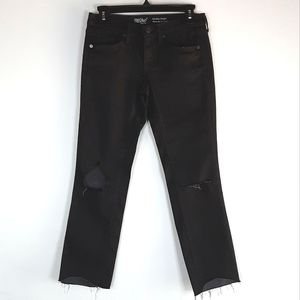 NWOT Mossimo Black Mid Rise Straight Cropped Jeans